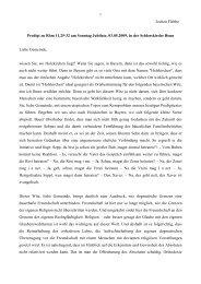 Liebe Gemeinde, - Evangelisch-Theologische Fakultät