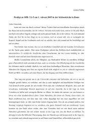 Predigt zu Offb 5,1-5 am 1. Advent 2005