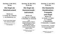 Konzerte und Gottesdienste mit der neuen Klais-Orgel im ...