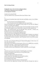 """""""Das Wort vom Kreuz"""" am 19.07.2009 Prof. Wolter"""