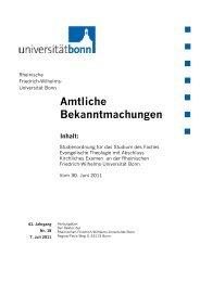 Studienordnung - Evangelisch-Theologische Fakultät - Universität ...