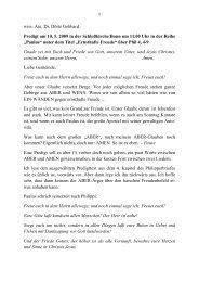 wiss. Ass. Dr. Dörte Gebhard Predigt am 10. 5. 2009 - Evangelisch ...
