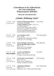 Gottesdienste im WS 10/11 - Evangelisch-Theologische Fakultät ...