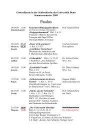 Gottesdienste im SS 09 - Evangelisch-Theologische Fakultät ...
