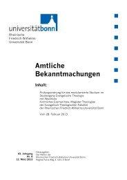 Prüfungsordnung - Evangelisch-Theologische Fakultät - Universität ...