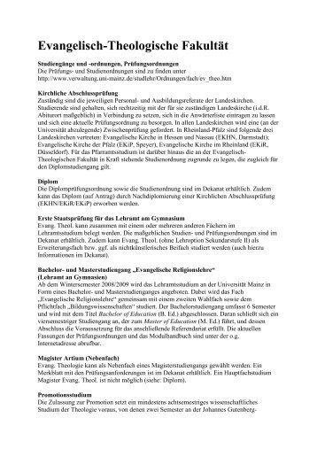 Sommersemester 2009 - Evangelisch-Theologische Fakultät