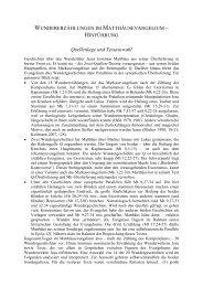 Quellenlage und Textauswahl