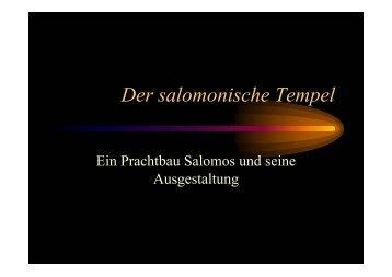 Der salomonische Tempel