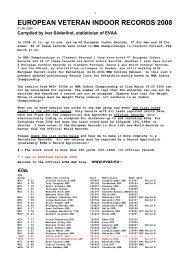 Indoors - European Veterans Athletic Association