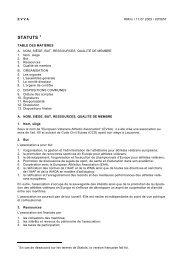 STATUTS - European Veterans Athletic Association