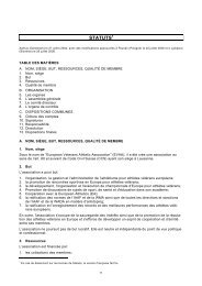 STATUTS1 - European Veterans Athletic Association