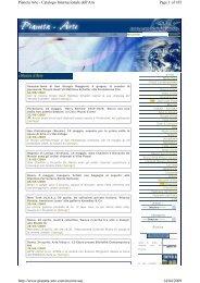 Page 1 of 185 Pianeta Arte - Catalogo Internazionale dell'Arte 14/04 ...