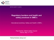 Regulatory burdens and health and safety practices in ... - EVAL.at