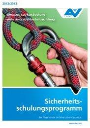 Sicherheitsschulungsprogramm 2012/2013 - AUVA