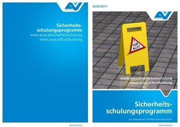 AUVA-Sicherheitsschulungsprogramm 2010/2011 - EVAL.at