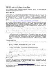 REACH und Arbeitnehmerschutz - Eval.at