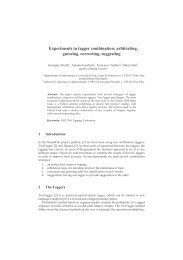 Experiments in tagger combination: arbitrating, guessing ... - EVALITA