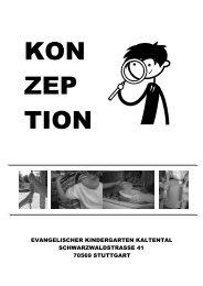 Konzeption des Evang. Kindergartens Kaltental - Evangelische ...