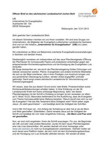 Offener Brief an Bohl ungekürzt - Evangelisationsteam ...