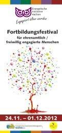 Programm des Fortbildungsfestivals (PDF) - Evangelischer ...