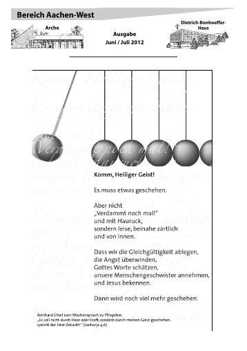 Einleger Bonhoeffer-Arche Juni-Juli 12 Internet - Evangelische ...