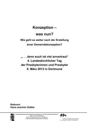 Konzeption – was nun? - Evangelische Kirche von Westfalen
