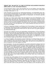 PREDIGT BUß- UND BETTAG 18.11.2009 ALTSTÄDTER ...