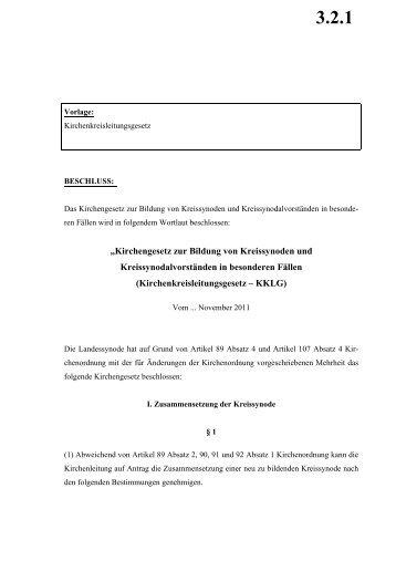 Kirchenkreisleitungsgesetz - Evangelische Kirche von Westfalen