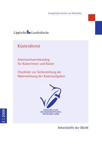 Küsterdienst - Evangelische Kirche von Westfalen