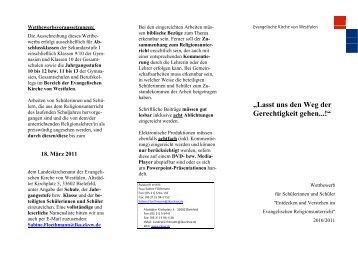 """""""Lasst uns den Weg der Gerechtigkeit gehen...!"""" - Evangelische ..."""