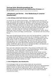 Handwerk und Kirche – ihre Bedeutung in u - Evangelische Kirche ...