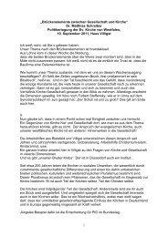 Brückenelemente zwischen Gesellschaft und Kirche - Evangelische ...