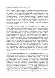 Predigt von Pfr. Klaus Dieterle am 25.12.2012