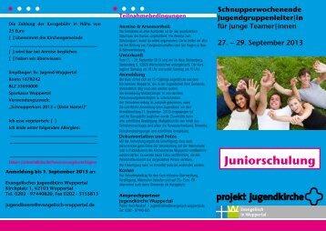zur Juniorschulung auf dem Flyer (pdf) - Evangelisch in Wuppertal