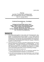Kirchliche Personalplanung - Grundlagen - Evangelisch in Wuppertal