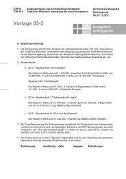 Vorlage 05.2: CityKirche Elberfeld - Evangelisch in Wuppertal