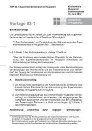 Vorlage 03-1, Sup.amt im Hauptamt - Evangelisch in Wuppertal