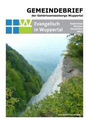 11-2011 Gemeindebrief.pdf - Evangelisch in Wuppertal