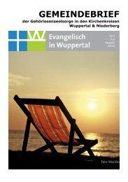 6-8-2013 Gemeindebrief.pdf - Evangelisch in Wuppertal