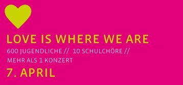 love is where we are 7. april - Evangelisch in Wuppertal