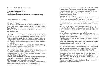 Predigt von Superintendentin Ilka Federschmidt - Evangelisch in ...