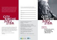 Das Programm der CityKirche Elberfeld im Januar - Evangelisch in ...