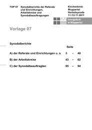 Synodalberichte - Evangelisch in Wuppertal