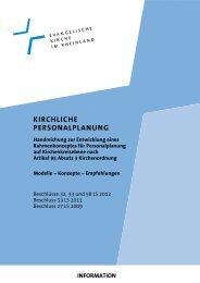 Kirchliche Personalplanung. Handreichung zur Entwicklung eines ...