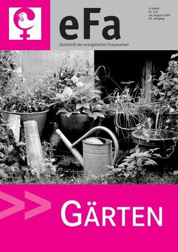 """""""Gärten"""" (Ausgabe 07-08/2009, 429kb)"""