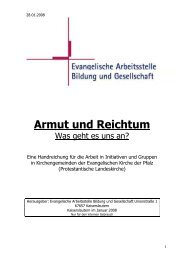 Armut und Reichtum_Arbeitshilfe28_01 - Evangelische Arbeitsstelle ...