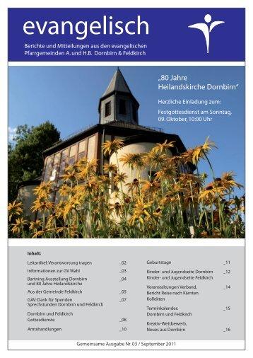 Ausgabe 3 - Evangelische Pfarrgemeinde Dornbirn