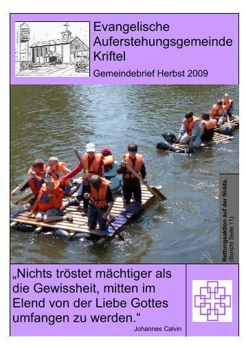 Herbst 2009 - Teil 1 - Evangelische Auferstehungsgemeinde Kriftel