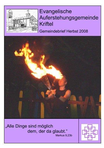 Herbst 2008 - Evangelische Auferstehungsgemeinde Kriftel