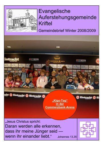 Winter 2008 - Evangelische Auferstehungsgemeinde Kriftel